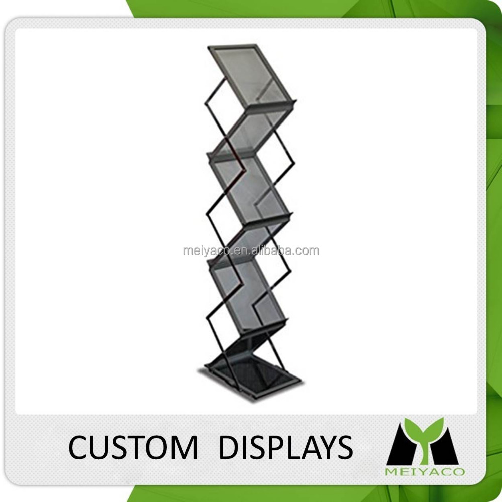 Design professional metal wire literature display shelves