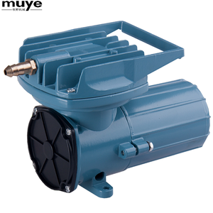 The mutil-used pond aerator piston mini DC air compressor with Bubbling manifold