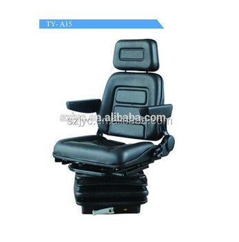 Backrest Adjustable Tractor Seat PVC Universal Car Driver With Rotator And Armrest TY A15