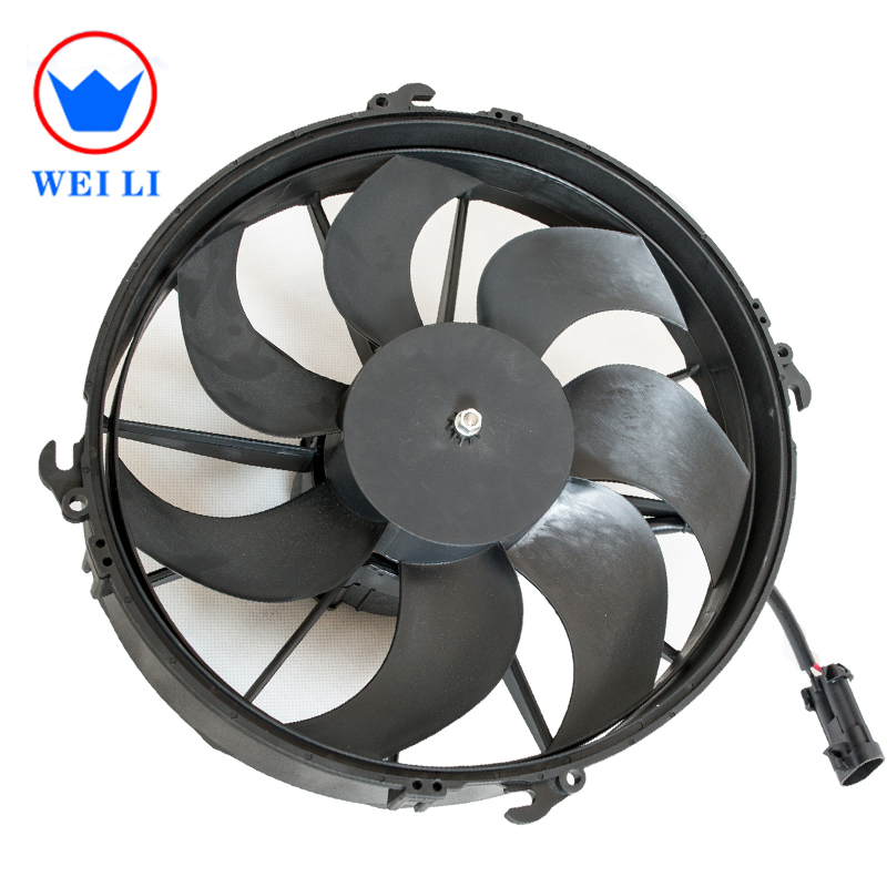 24V <strong>AC</strong> 7 plastic curve blades cooling fan with dc motor for Bus and Truck