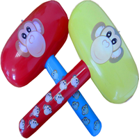 hot sale monkey pvc plastic inflatable hammer toy