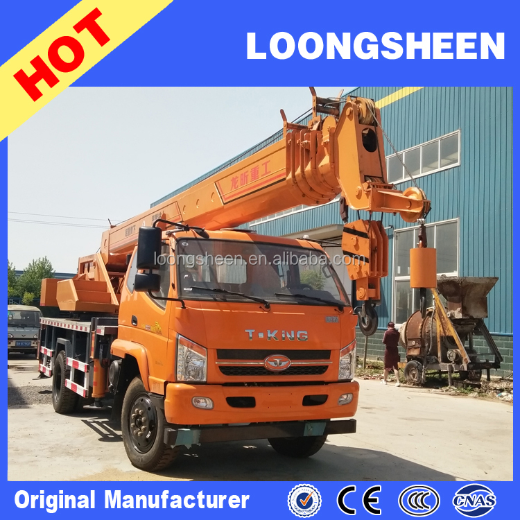 High Quality Small Lifting Machine Mobile Crane T-king 12 Ton Truck Crane