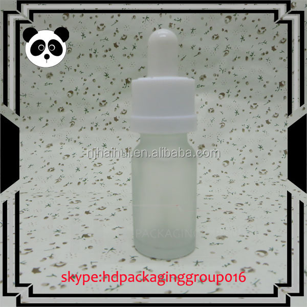 Hot selling glass dropper and rubber top 10 ml glass e cig liquid bottle
