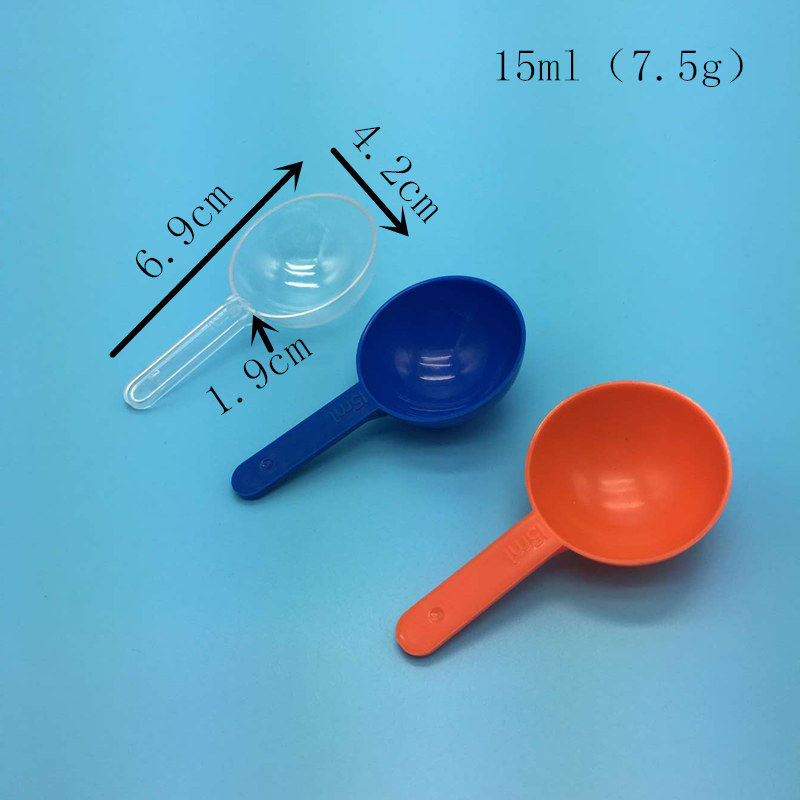 Ningbo yuyao factory plastic spoon PP scoops spoon 15ml or 8g coffee spoon