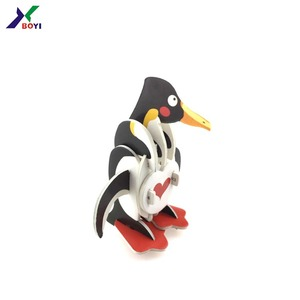 Audited Factory price OEM High Quality DIY Penguin Animal jigsaw Puzzle folding EPS KT Board 3D Puzzle