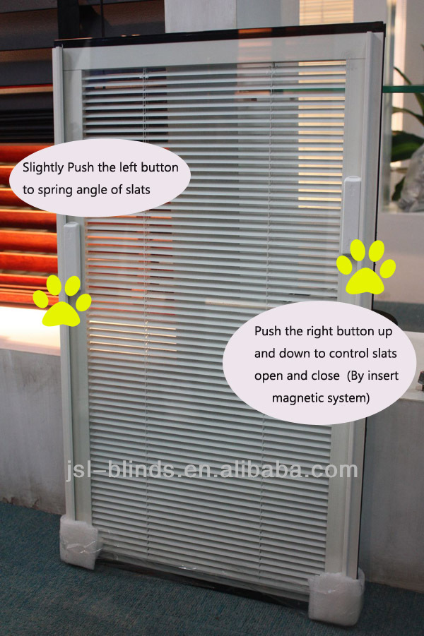 Building project use blinds inside double glass