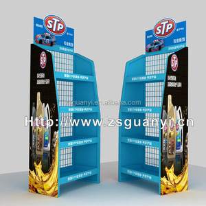 Metal display rack for edible oil display