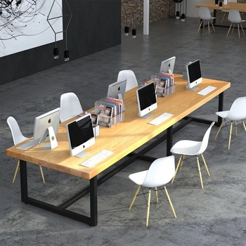 industrial loft office furniture table office desk for staff wood office  table custom size moq is 1 set, View office table, SUGAR & LOVE HOME  Product ...