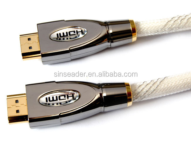Premium HDMI high end 1.4 v 2.0 v ATC 2160 P con Ethernet 3D ARC placcato oro HDMI a 19 pin cavo