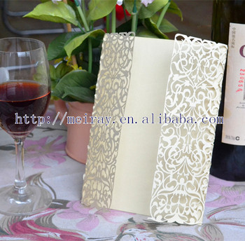 Chinese Wedding Invitation Laser Cutting Royal Wedding Card Design