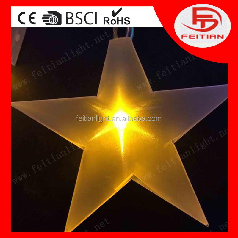 christmas star laser decoration light with CE ROHS standard PVC led christmas light