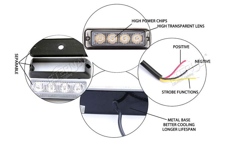 5 Inch 4w 4x4 Offroad Automotive Motorcycle Front Rear Led Strobe Light Motorcycle Rear Ke Light Wiring Diagram on