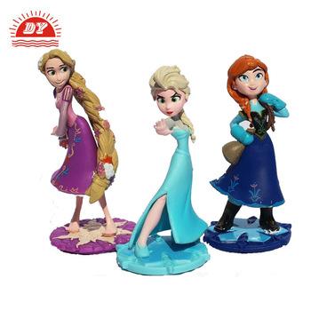 Kartun Film Elsa Anna Putri Rapunzel Pvc Aksi Gambar Buy Kartun