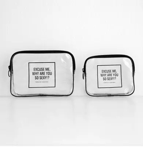 Ginzeal Cute Eco Beauty Transparent Printed Cosmetic Bag