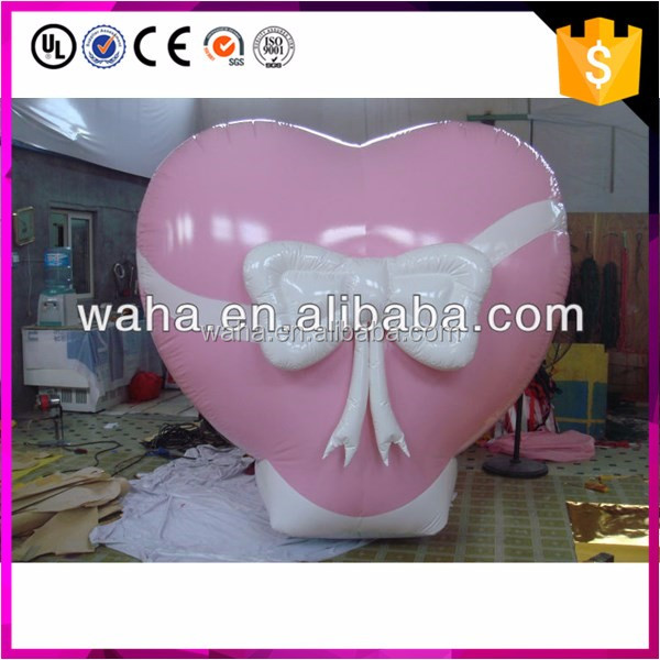 Hot sell Valentine's Day artificial inflatable shape heart for decoration