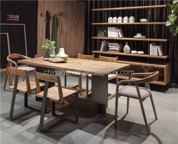 Table Square Wooden Dining Room Furniture
