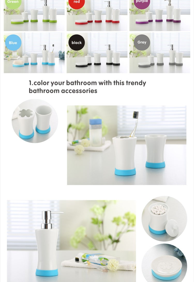 Eco friendly bathroom ceramic toothbrush holder with silicone base