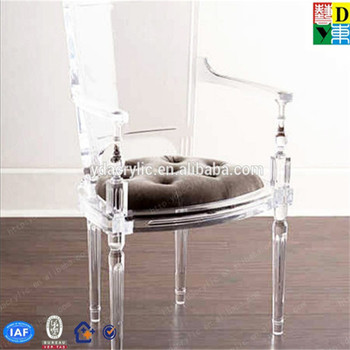 Cheap Modern Design Clear Acrylic Dining Wedding Chair With Soft