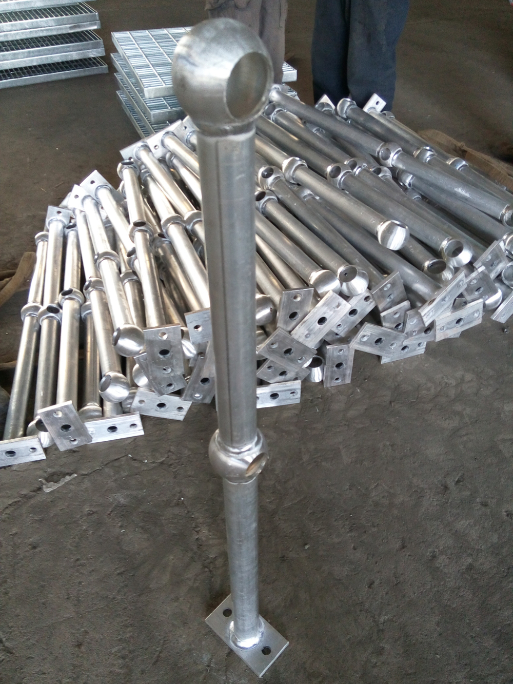 Ball Joints Piping : Aluminium alloy ball joints pipe for baluster buy