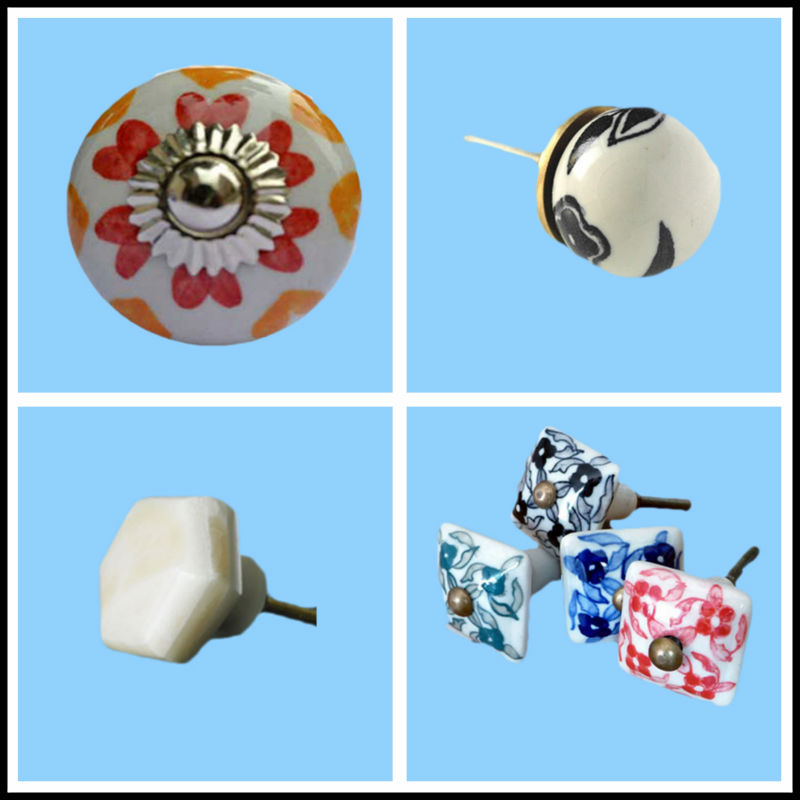 Made In China Colorful Door Or Drawer Ceramic Knobs India