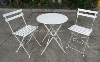 3-piece Bistro Set Folding Metal Bistro Table Chair Set - Buy Cheap ...