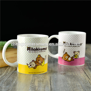 350ml ceramic coffee mug with funny cute design for sublimation