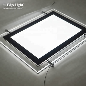 Hanging type flexible led bars wholesale A1 A2 A3 A4 acrylic crystal light box