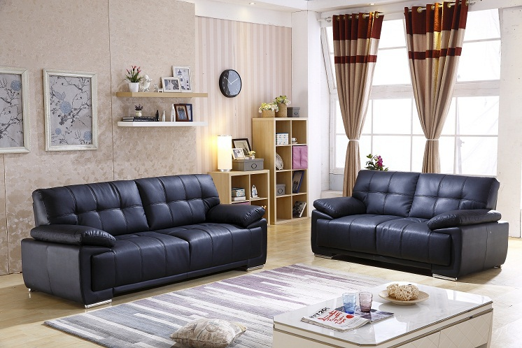 Low price cheap living room furniture leather sectional for Low living room furniture