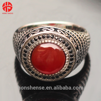 Rot Aqeeq Stein Achat Ringe 925 Sterling Silber W Filigrane Ring