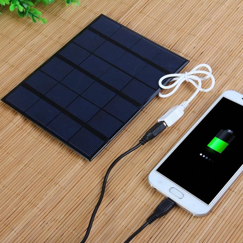 USB rechargeable painéis solares Fácil de transportar