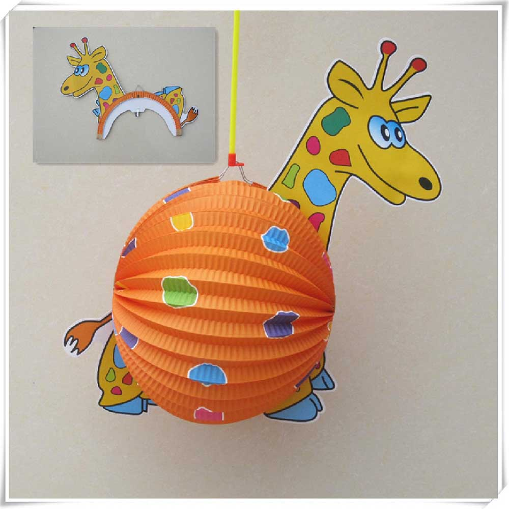 Cartoon paper lantern lights for christmas decoration
