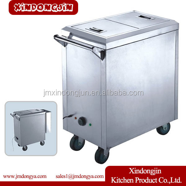 TCB-M hot food trolley, hospital food warmer trolley, food serving trolley