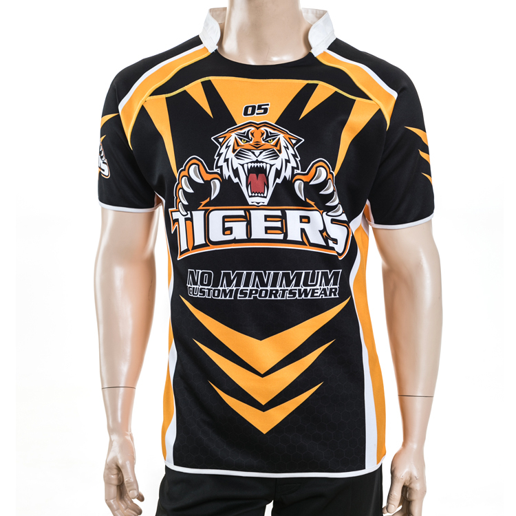 Healong wholesale touch rugby uniforms custom touch for Custom football jersey shirts