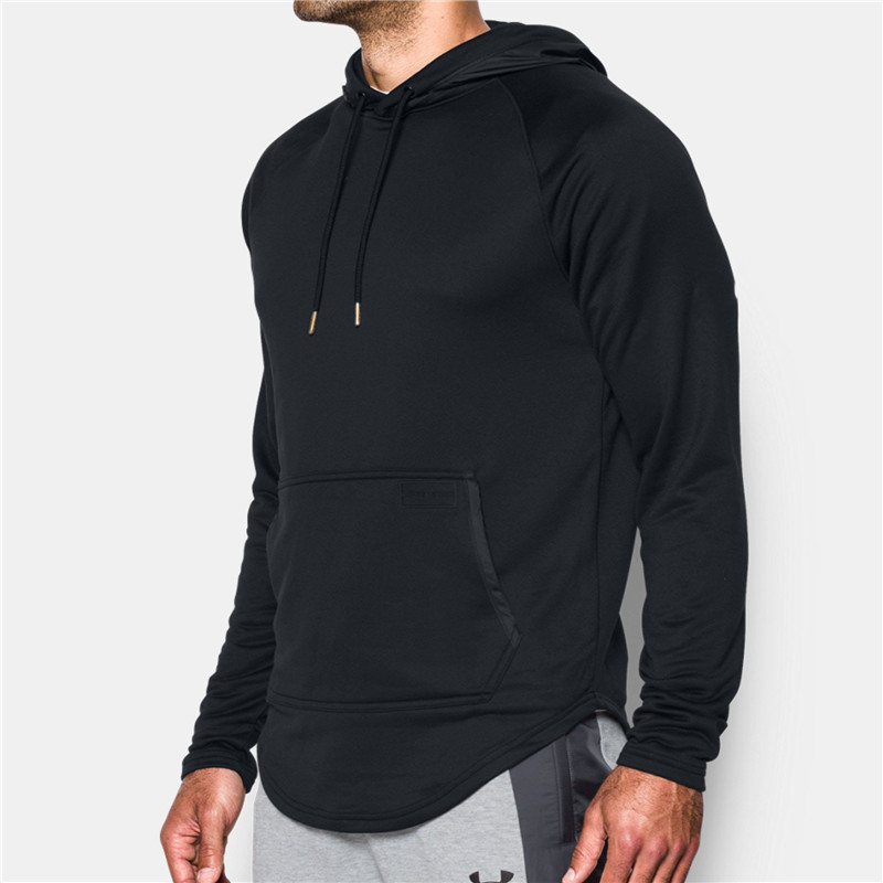 Custom athleisure blank black pullover sweatshirts men cheap sports plain black cheap hoodies