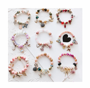 INFANTA JEWELRY Bohemian little fresh choice natural stone crystal beaded bracelet multi-element DIY beaded bracelet display