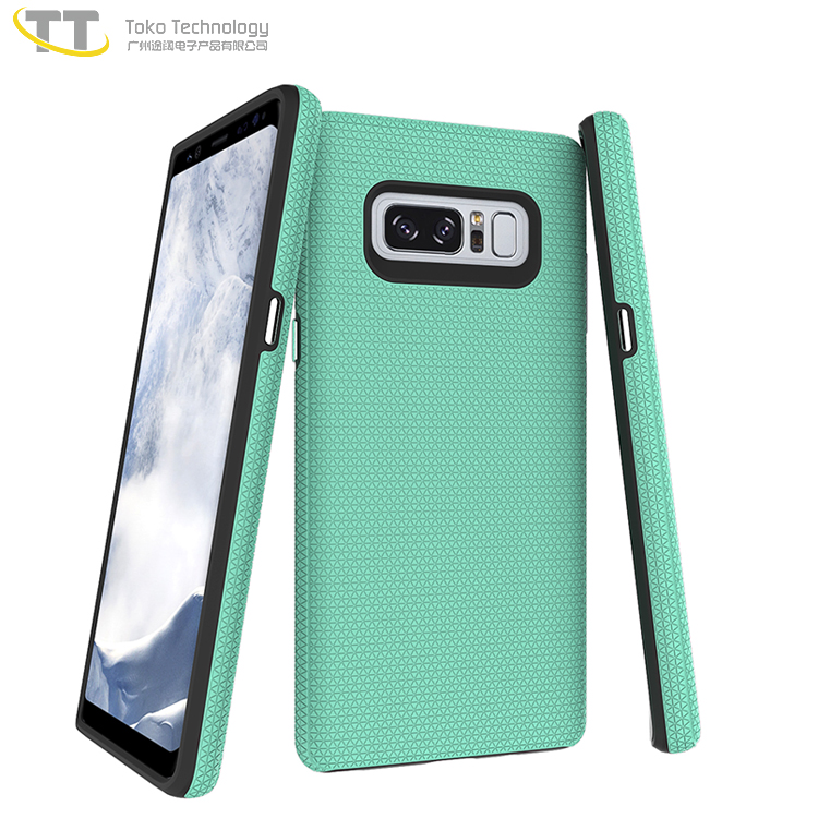 2017 new design 2 in 1 tpu pc case for samsung galaxy note 8 case