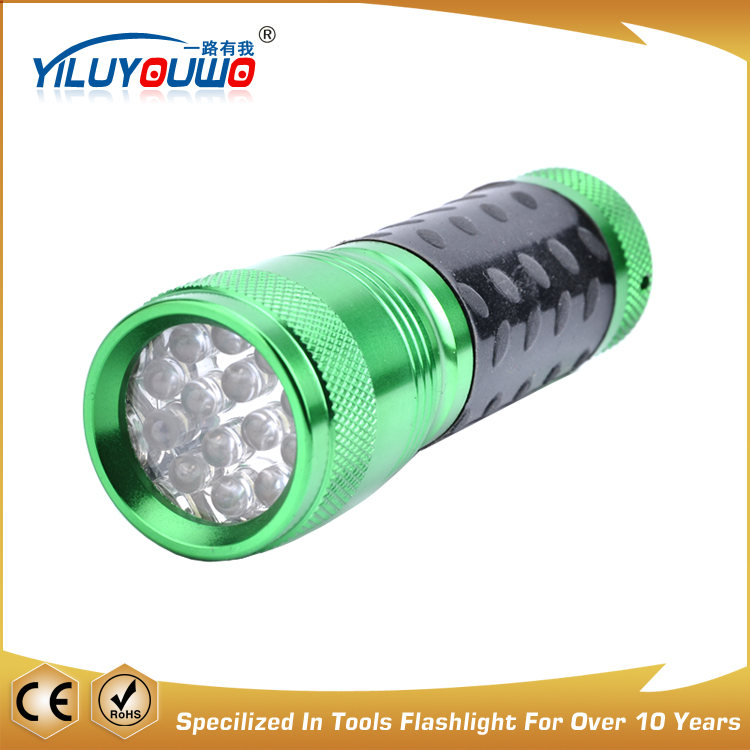 Latest Produc Promotion Gift Rubber Grip Portable Multi Color Led Flashlight