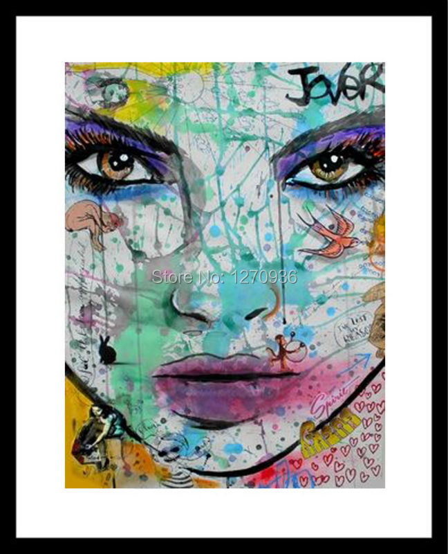 Collared Girl Paper Stream Glamorous Makeup Black Girl Beautiful <font><b>Asian</b></font> Girl Hand-painted Canvas Oil Painting Classic <font><b>Home</b></font> <font><b>Decor</b></font>