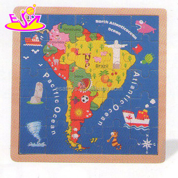Kid\'s Gift Brazil Map Wood Jigsaw Puzzle,Educational Toy Wooden Map ...