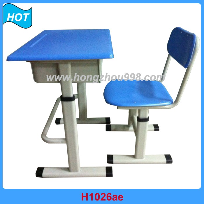 Cheap School Furniture Student Desk and Chair Steel Pipe New Design
