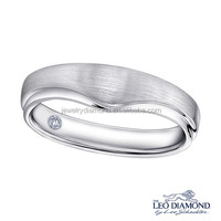 Enchanted Treasure 0.023CT 18K White Gold Diamond sterling silver platinum & rings classic engagement rings