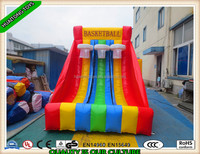 Hot selling amusement inflatable basketball hoop sport games for kids playing
