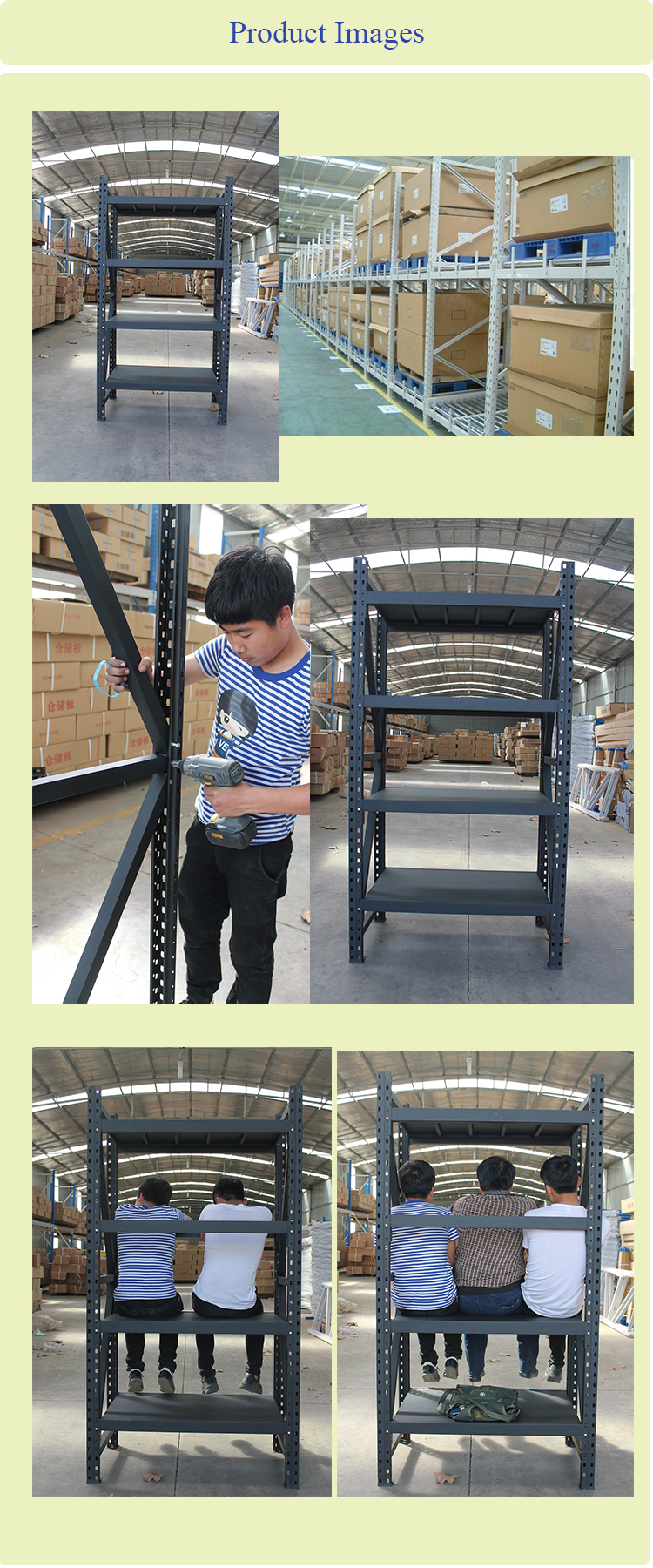 Warehouse Carpet Metal Vertical Storage Rack and Metal Storage Shelf