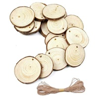 DIY Wood Craft Natural Wood Slices for Christmas Wedding Ornament