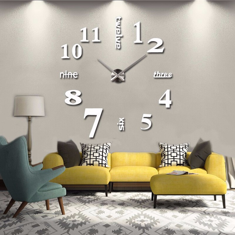 Diy D Acrylic Clock Wall Decalsstickers For Reception Family - Wall decals clock