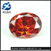 Glamour High Quality Oval Cut Orange Color Cubic Zirconia Loose CZ Diamonds Stones