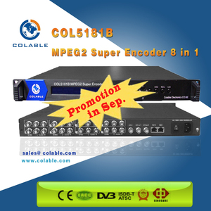 Digital CATV Encoder 8 Channels MPEG-2 SD Video Encdoers COL5181B