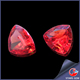 2015 new rose red fat triangle shape Natural gemstone