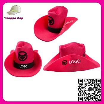 Custom Printed Big Size Funny Folding Foam Promotional Cowboy Hat Wholesale 7815196f507