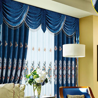ready made blackout embroidery turkish curtains made in china